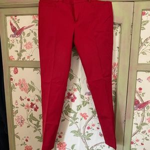 Banana Republic Red Pencil Trousers